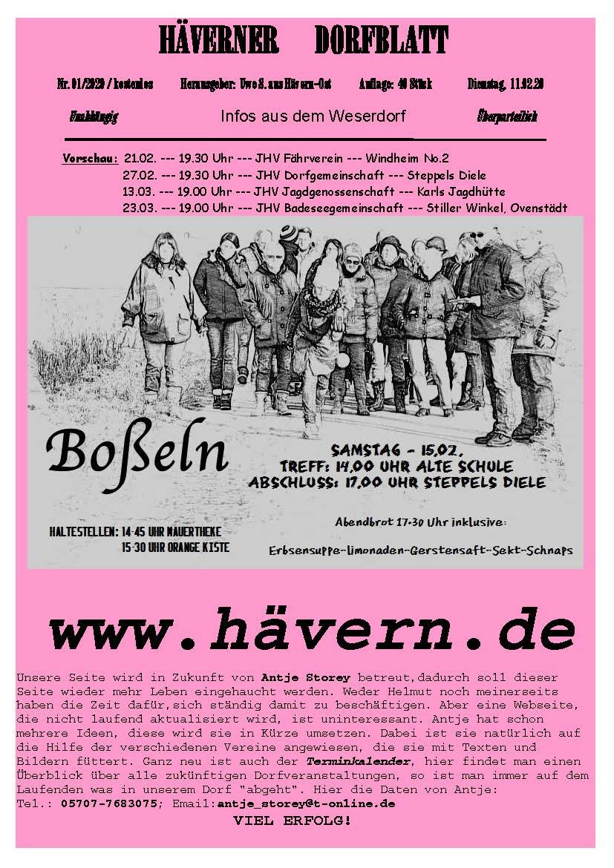 Dorfblatt Hävern 10.02.2020